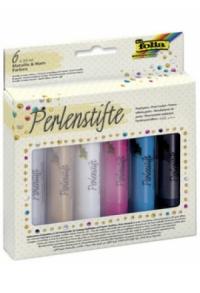 folia Perlenstifte-Set, 6 x 30 ml, farbig sortiert